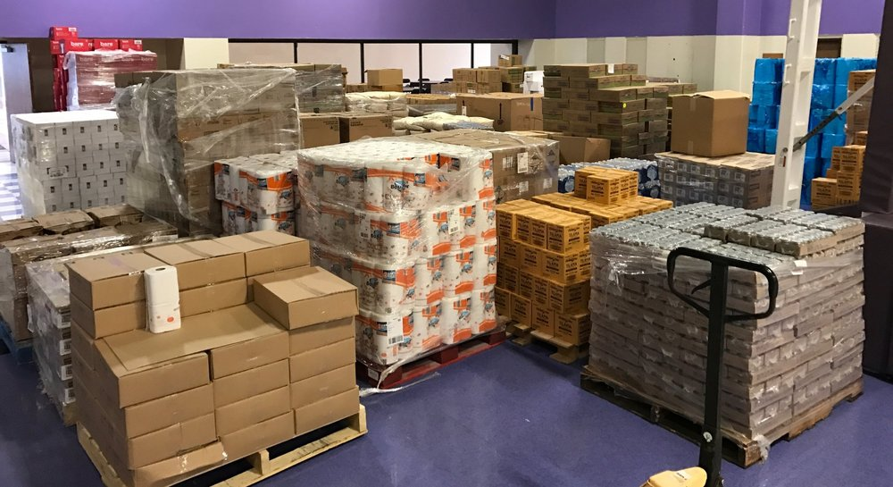 99 Pallets of Donated Product