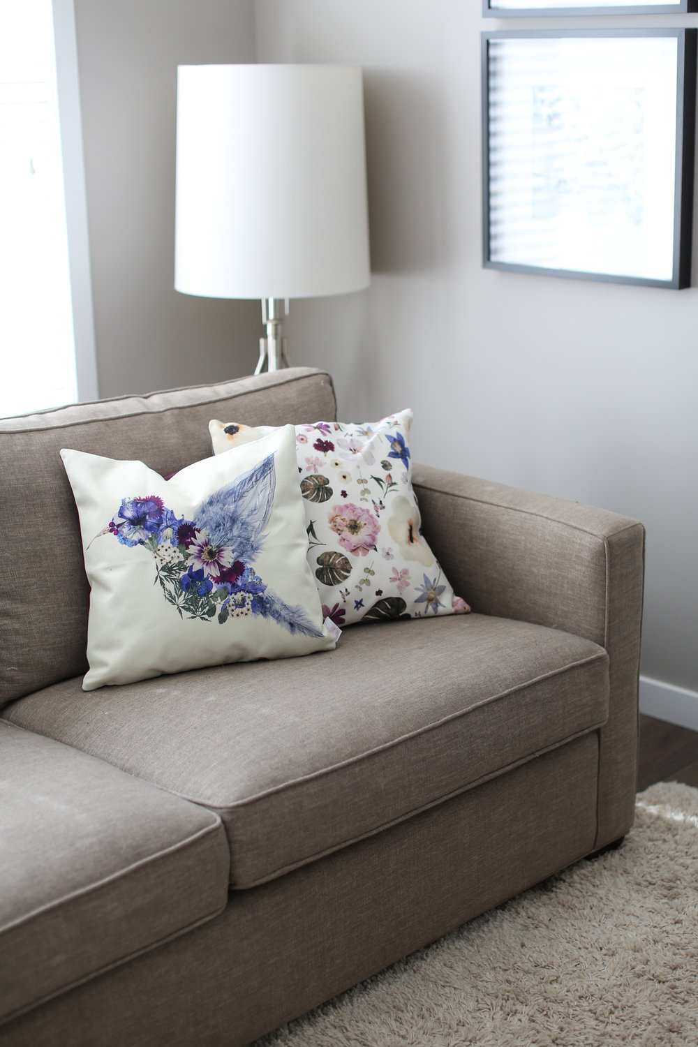 Pressed Floral Pillows