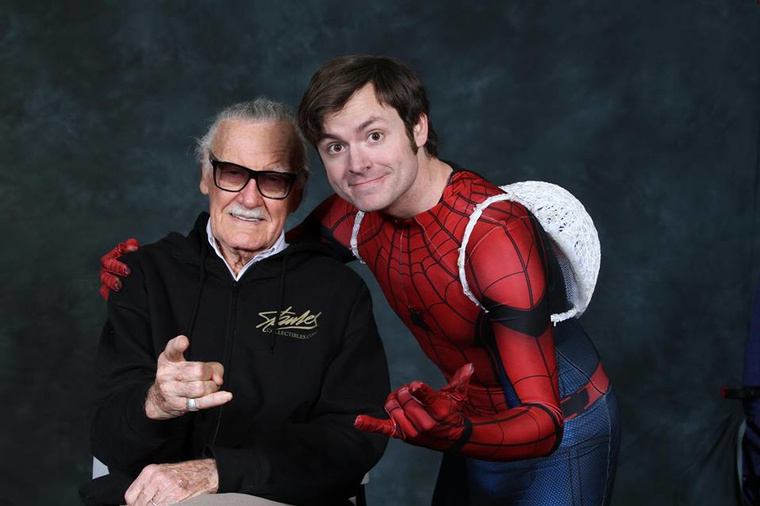 SpideySteve with Stan Lee