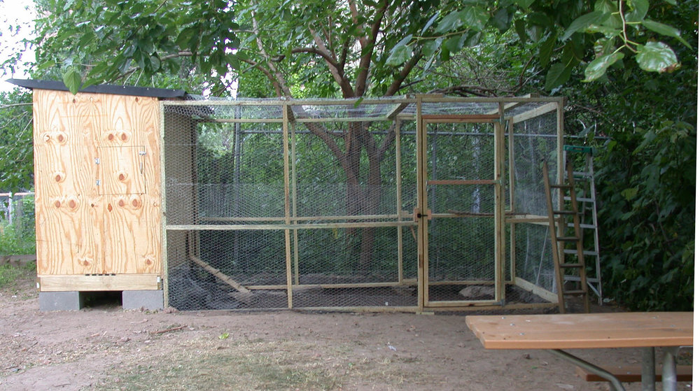 Photo from Christine Johnson, of Pleasant Village Community Garden's first chicken coop.
