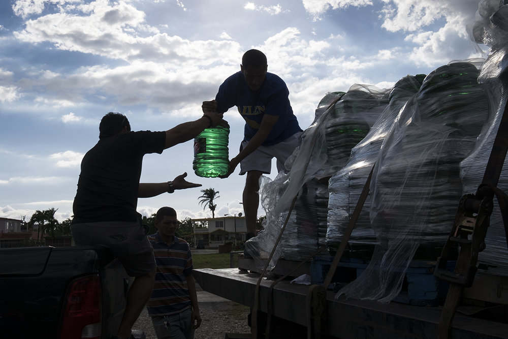 We brought 40 pallets of water to those in need.