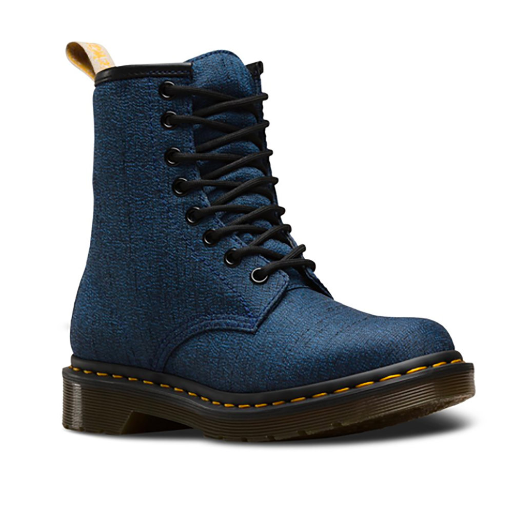 - Vegan Castel Boot in Indigo from Dr. Martens.  Fun fact: British brand, Dr. Martens, whom specializes in boots that last a lifetime, are now a hit among the vegan community. https://mooshoes.myshopify.com/collections/dr-martens/products/vegan-castel-boot-in-indigo-from-dr-martensInstagram: @drmartensofficial