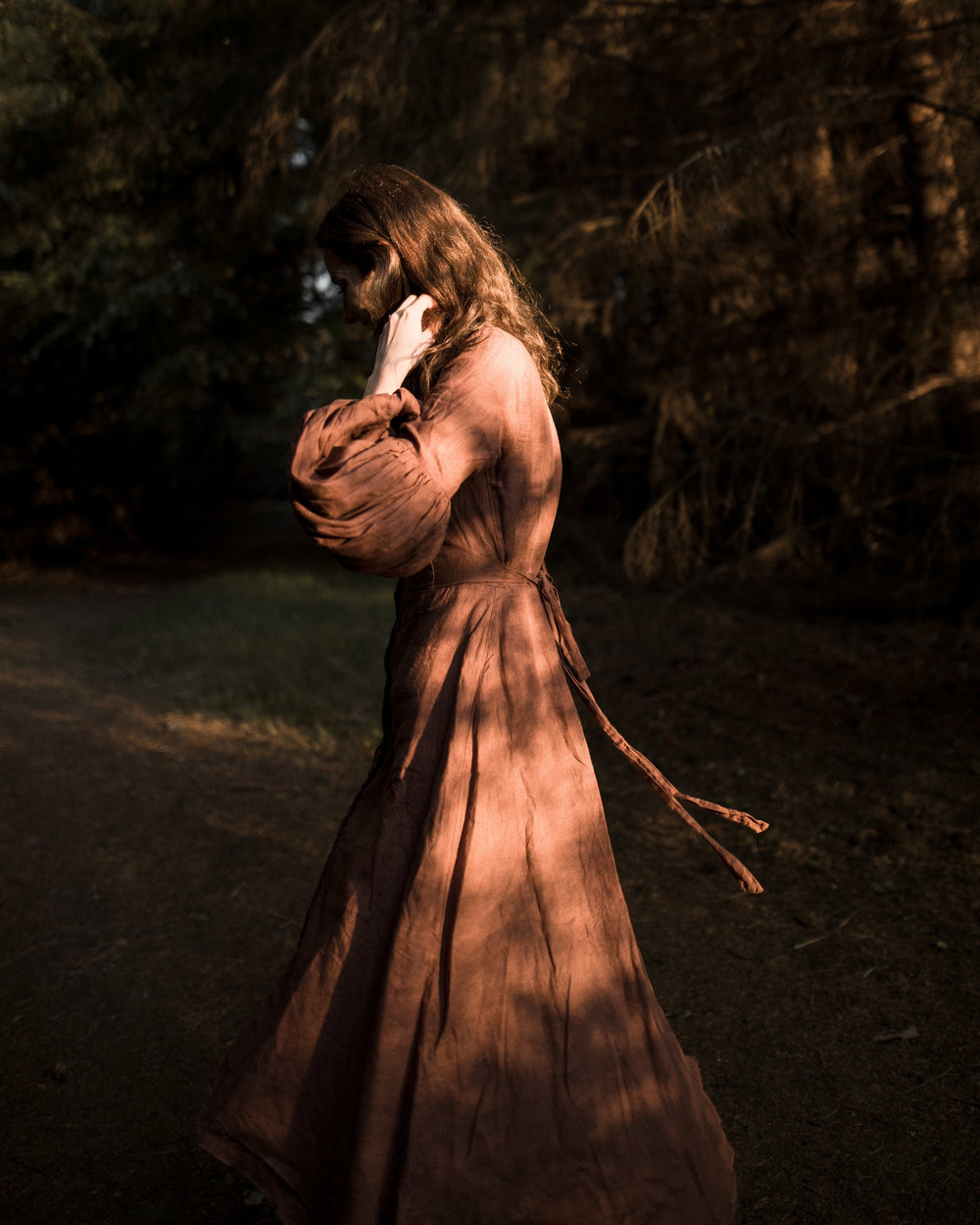 Photographer: Christian Watson  Model:  Elle May Watson   Wardrobe: Zinnia Dress in Rust by Sisters of the Black Moon