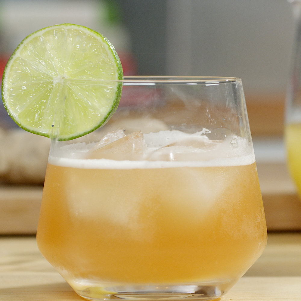 Refreshing  - Tropical pineapple rum cocktail.