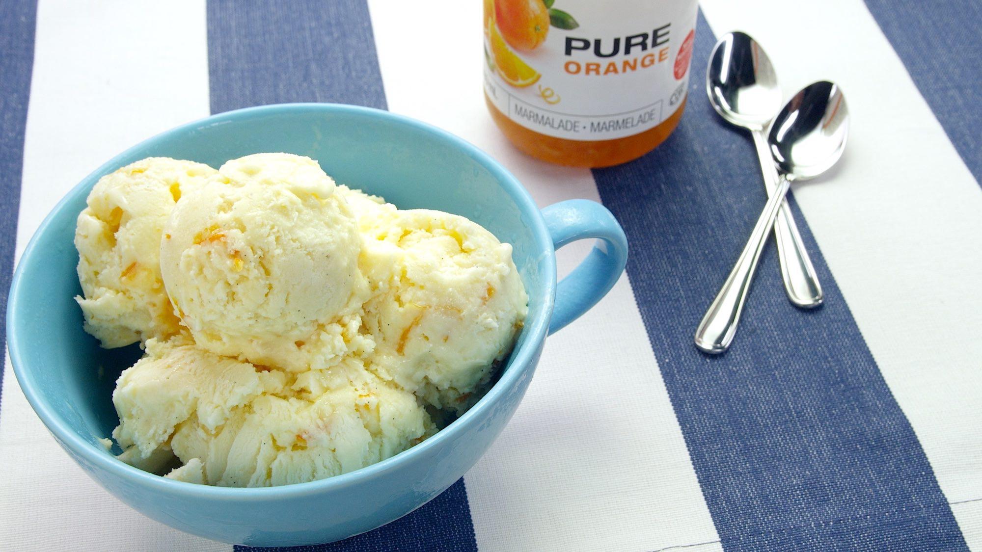Mascarpone & Marmalade Ice Cream — Le Gourmet TV
