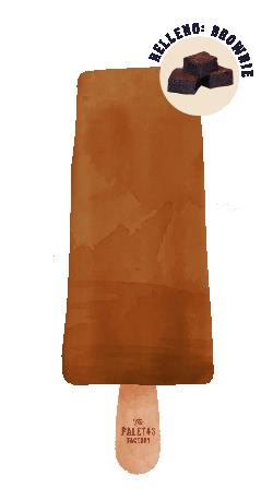 DULCE DE LECHE C/ BROWNIE   Helado de dulce de leche relleno de brownie