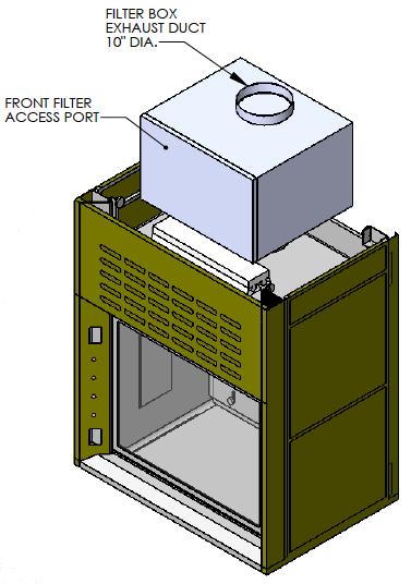 Sketch Radio Isotope Fume Hood