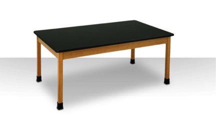 2-Student Wooden Frame Science Table