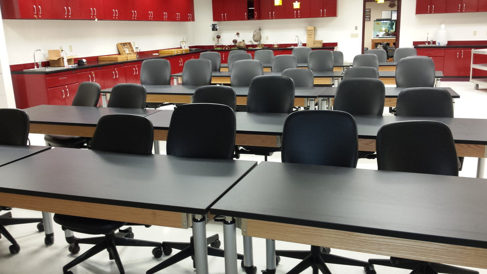 Height adjustable lab tables