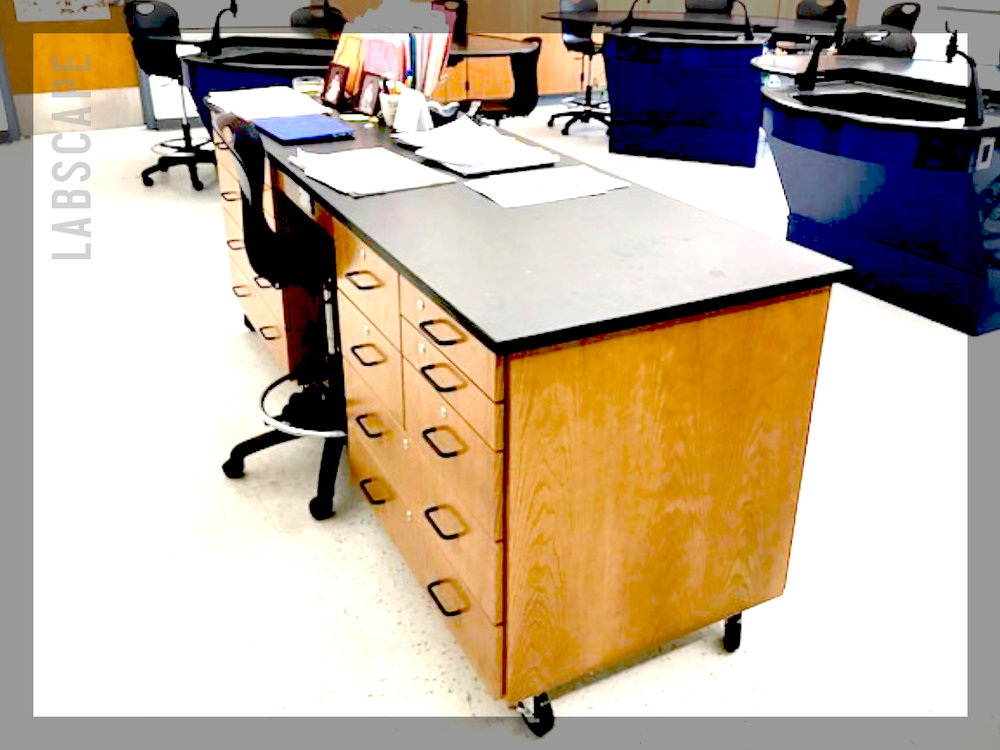 teacher's demo desk -