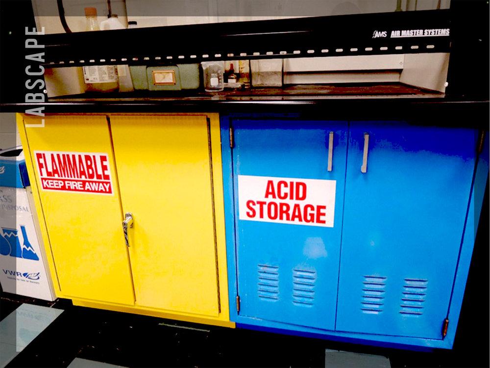 ACID STORAGE CABINETS -