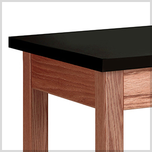 LS-WOOD-LEGGED TABLE - CHEM RESISTANT WORKTOP.jpg
