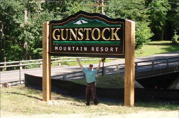 Gunstock Mountain Resort sign