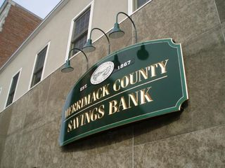 Merrimack County Savings Bank sign