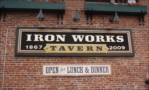 Iron Works Tavern sign, Rhode Island