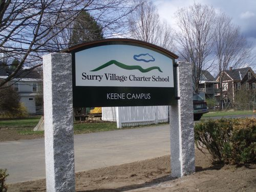 Surry Village Charter School sign