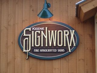 Finished Signworx sign on the building