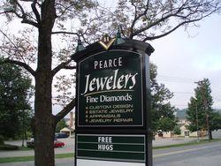 Pearce Jewelers sign