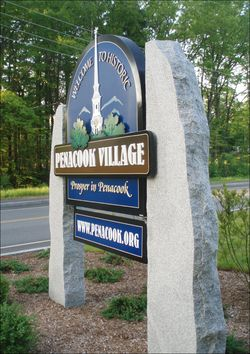 Penacook Village sign side angle