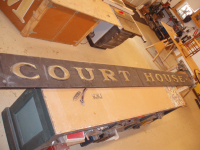 100 yrs old Court house sign being reburbished