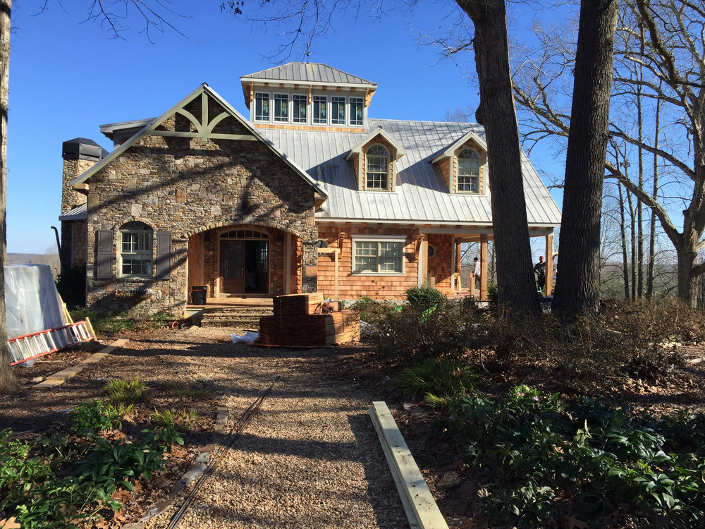 Lake Hartwell Renovation - Front Elevation Architectural Enhancements