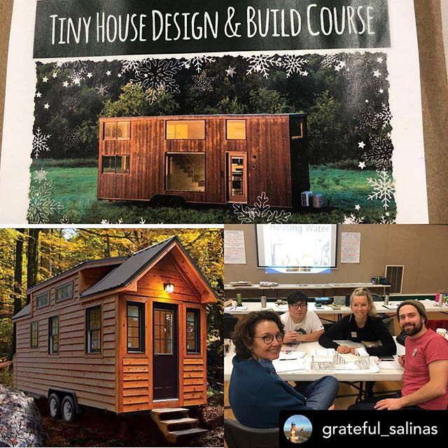 Posted @withrepost • @grateful_salinas #learntiny #tinyhouse #tinyhomes #buildsmall #bc #tinyhousecoursesbc #comoxvalley