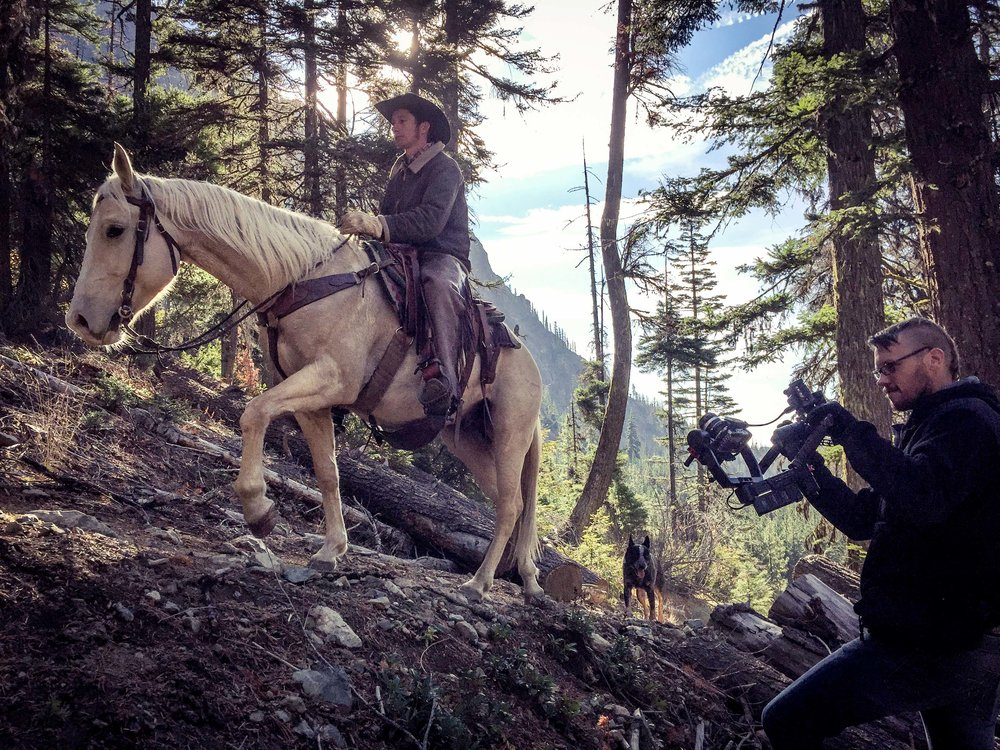 Shooting Horseback Rider at Esmerelda Falls.jpg
