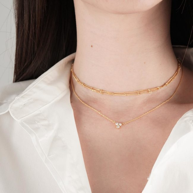 2. Mejuri Lotus Necklace