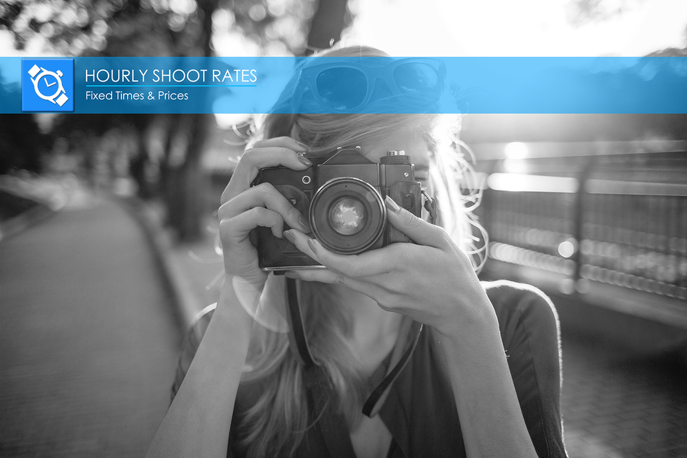 HOURLY SHOOT RATES FOR INDIVIDUAL IMAGES:  Quickly create single images for ad posts and email promotions. Pro Lensers will accept your request based on your shoot description and if they want to shoot what you propose for the fixed hourly rate.
