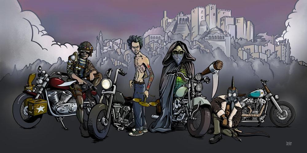 four bikers of the apocalypse