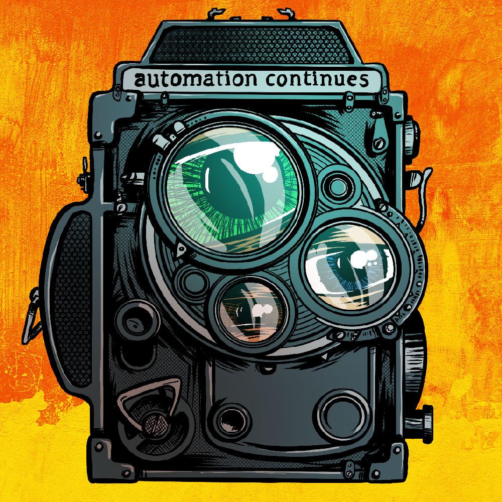 oldschool camera illustration