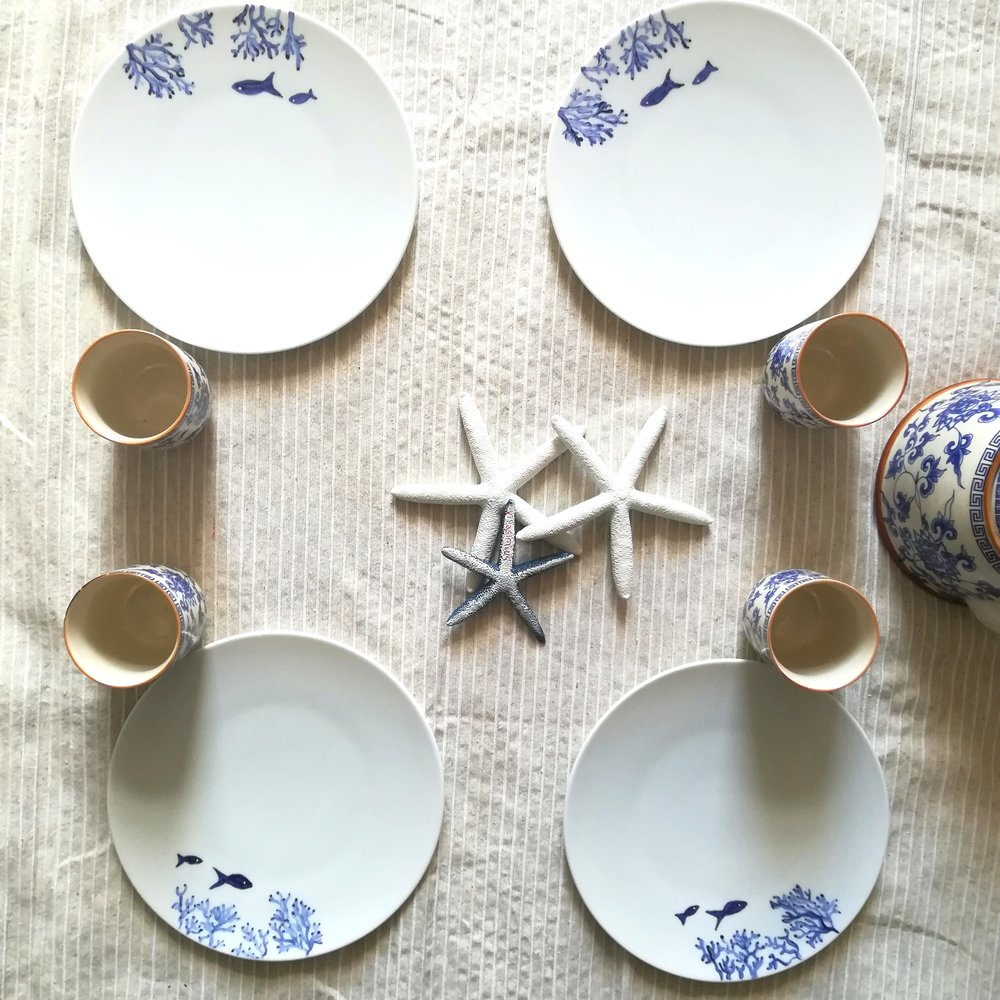 Side plates 21 cms