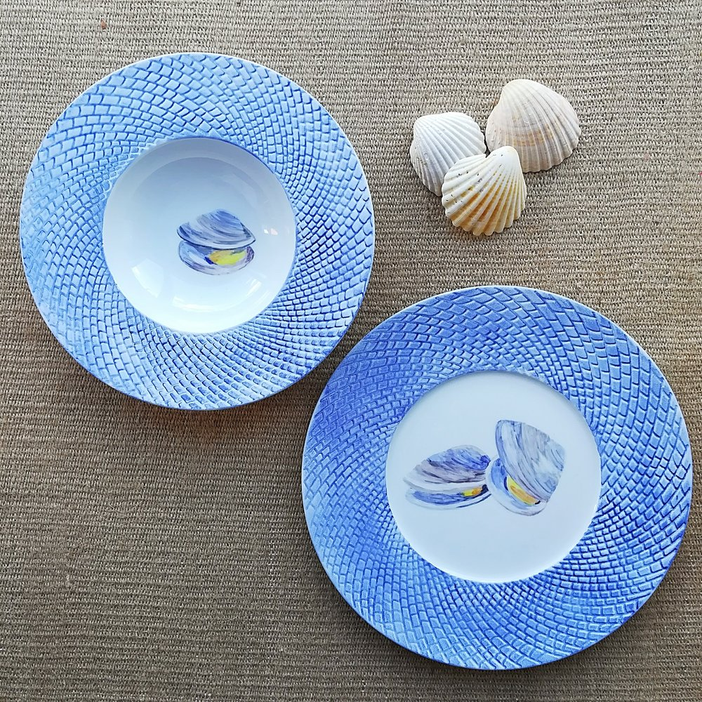 Set of dinner and pasta plates 27 cms + 23 cms