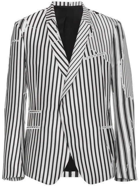 Haider Ackermann   Deconstructed Stripe Structured Blazer