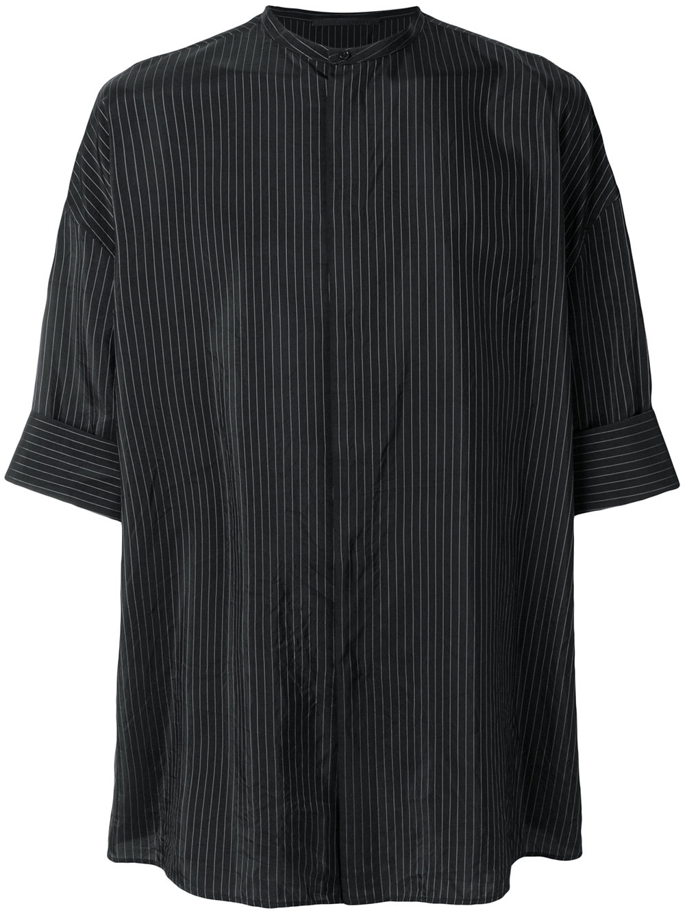 Haider Ackermann   Thin Strip Mandarin Collar Shirt