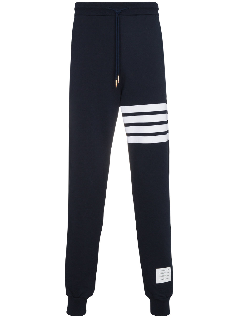 Thom Browne   Engineered Navy Four Bar Stripe Sweatpant