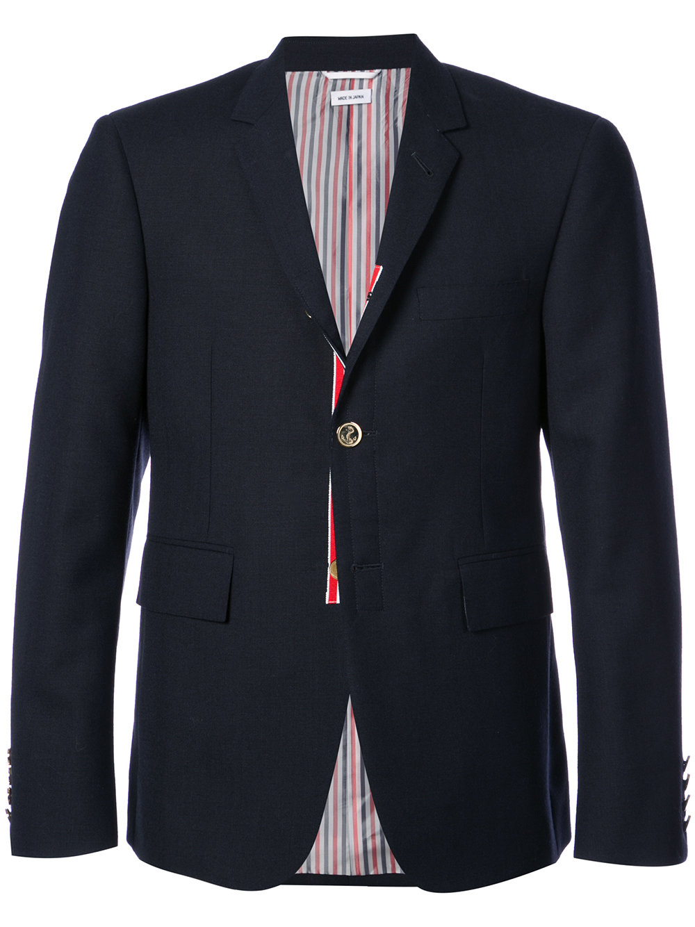 Thom Browne   Classic Navy Two Button Blazer