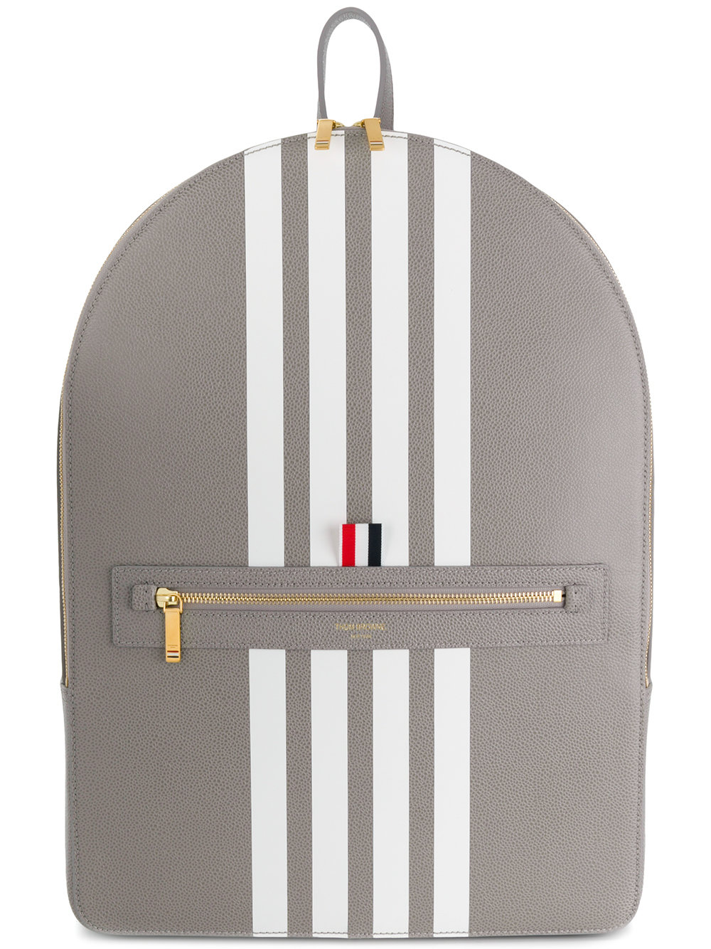 Thom Browne   Four Bar Stripe Leather Backpack