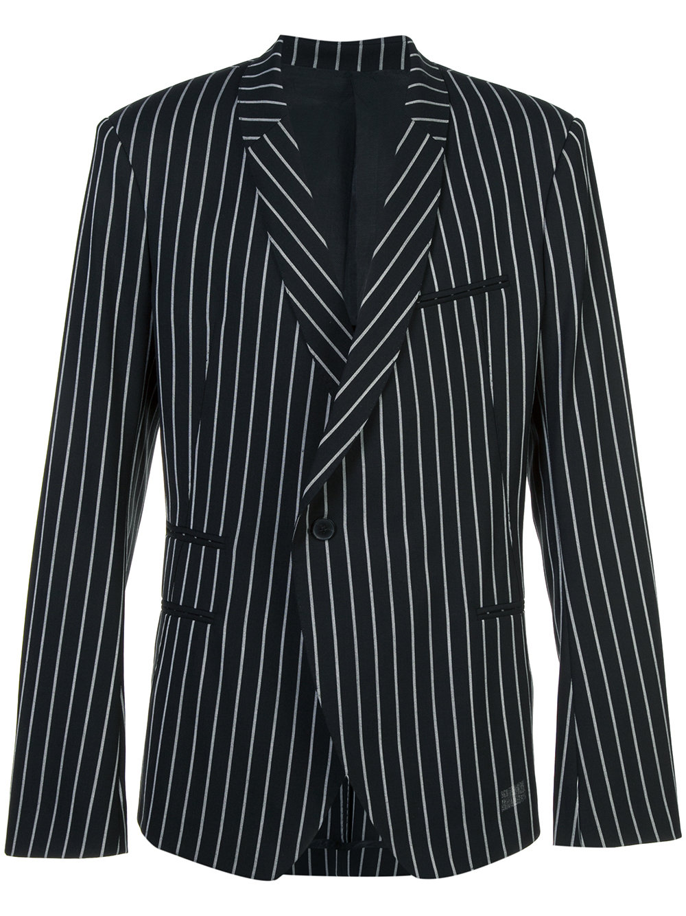 Haider Ackermann   Black and White Stripe Tailored Blazer