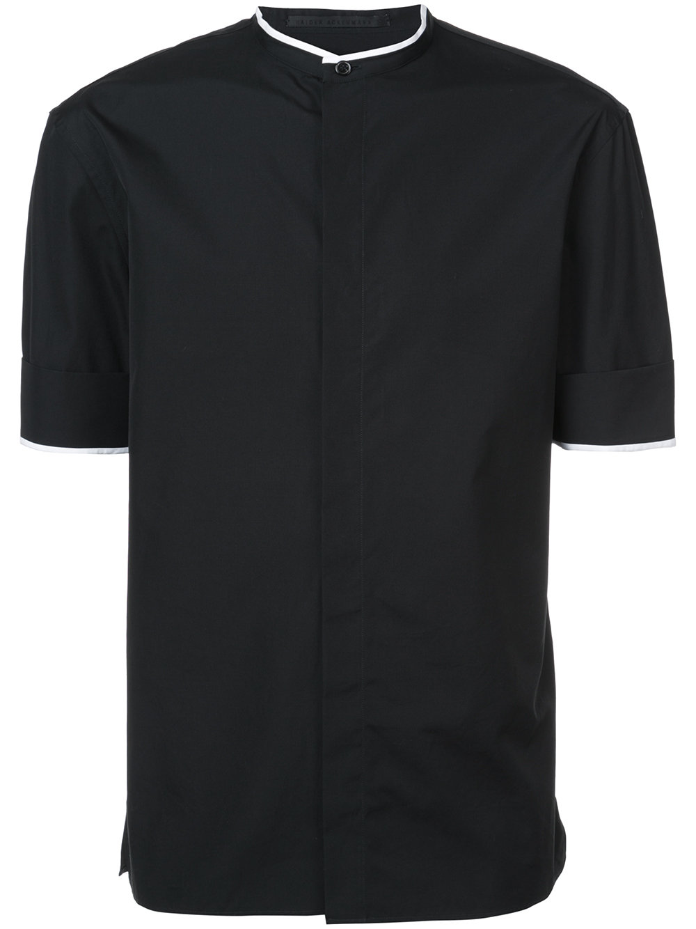 Haider Ackermann   Black Mandarin Collar Shirt
