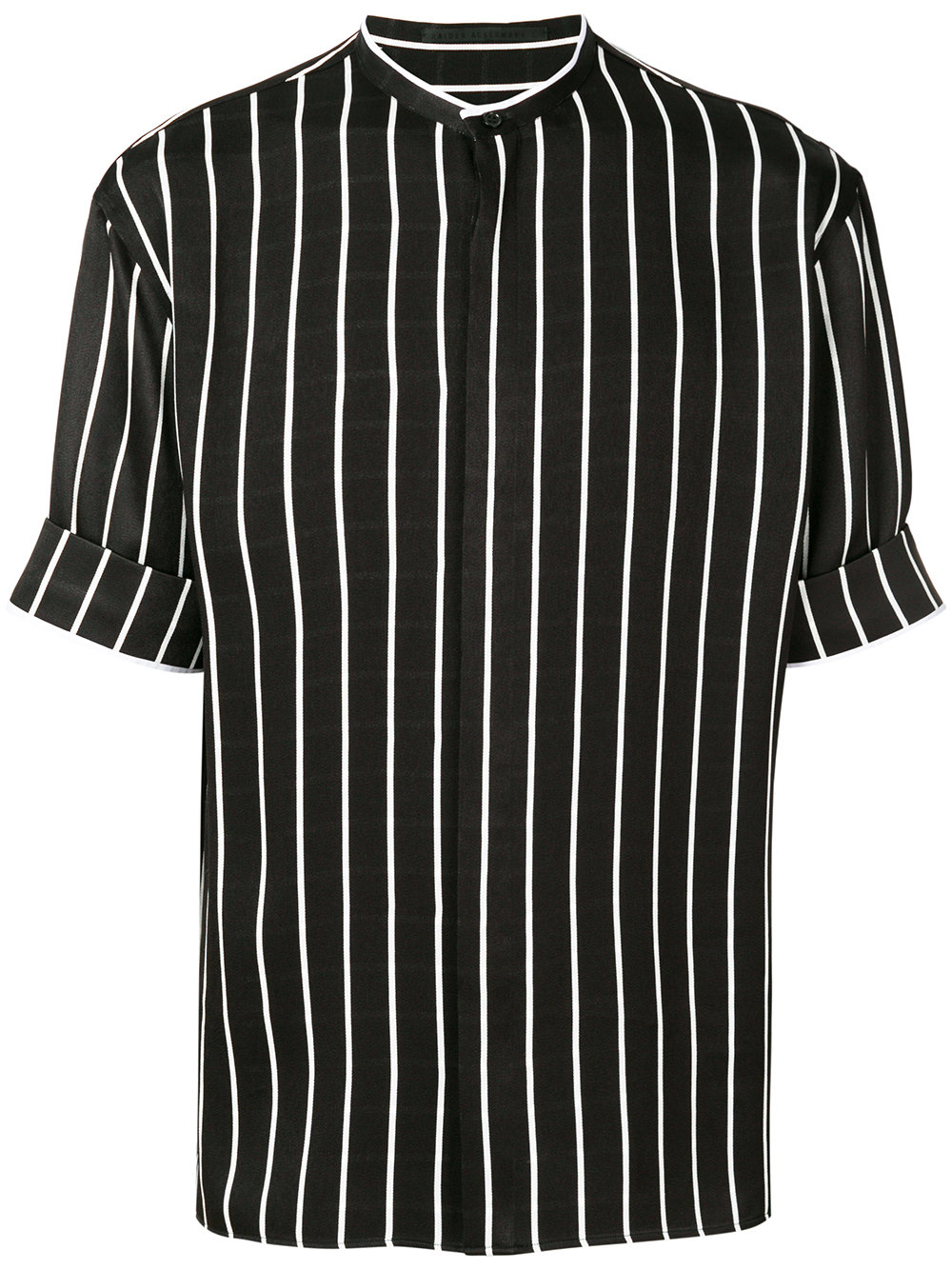 Haider Ackermann   Thick Stripe Mandarin Collar Shirt
