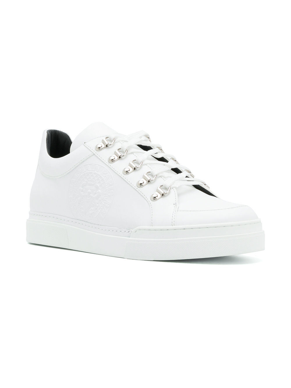 Balmain   Low Top Eyelet Trainer