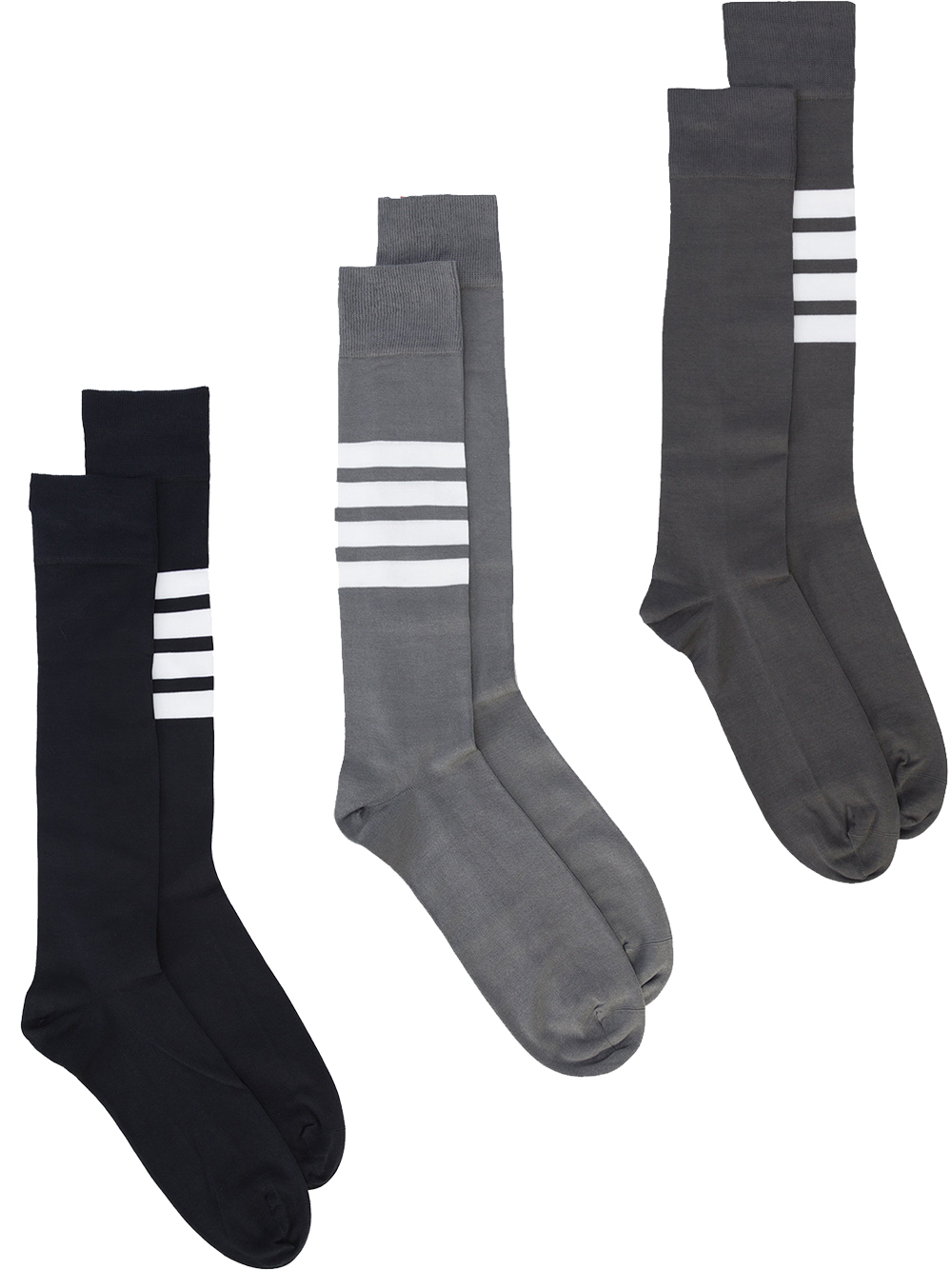 Thom Browne   Engineered Four Bar Stripe Socks