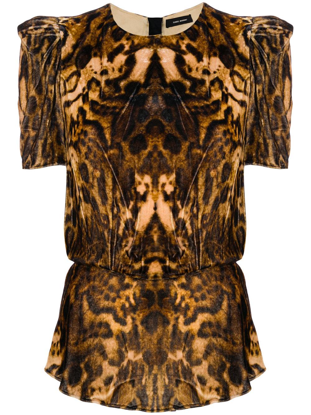Isabel Marant   Leopard Print Peplum Blouse