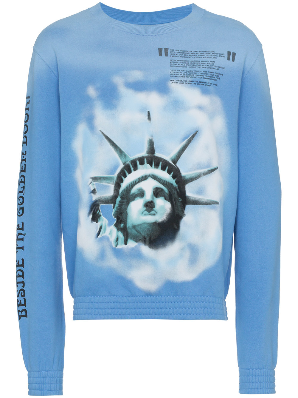 Off-White   Blue Liberty Long Sleeve Sweatshirt