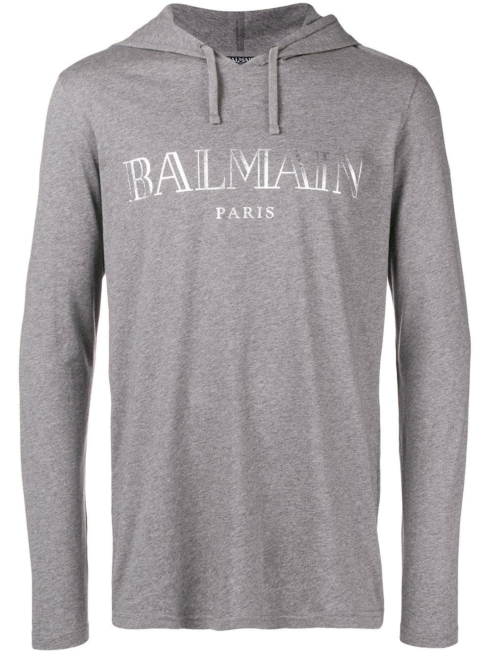 Balmain   Grey Logo Pullover With Hood