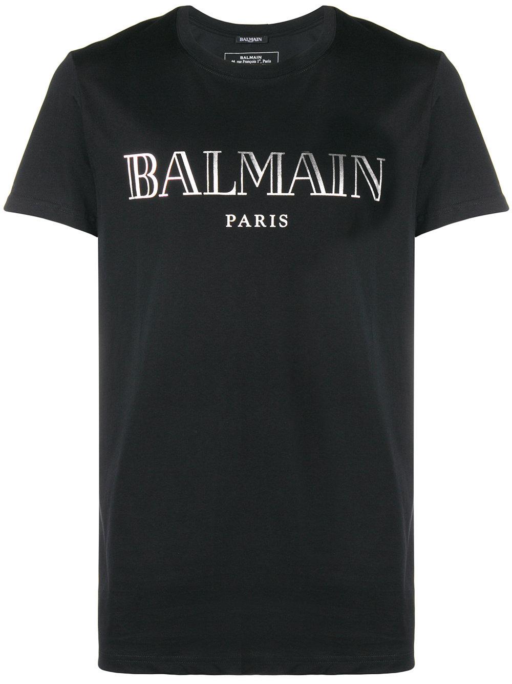 Balmain   Black Logo Tee