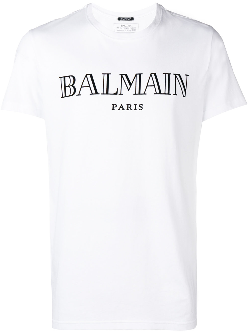 Balmain   White Short Sleeve Logo Shirt
