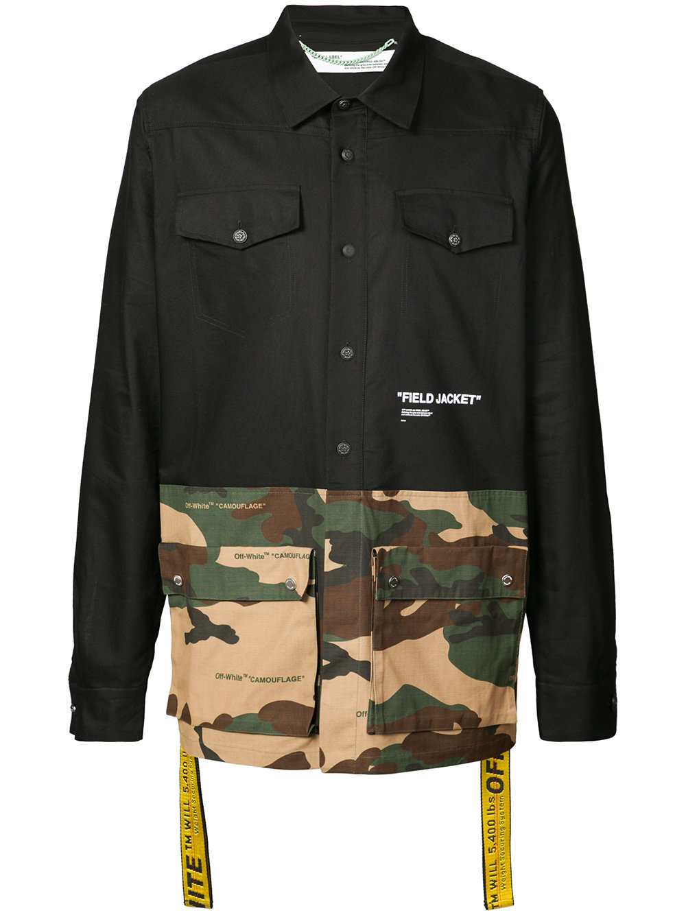 "Off-White   Contrasting Design ""Field Jacket"""