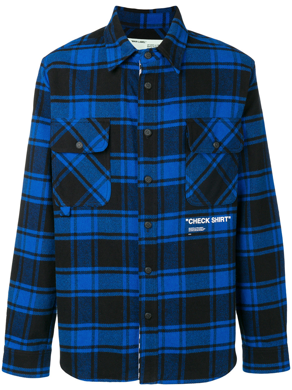 "Off-White   Blue ""Check Shirt"""